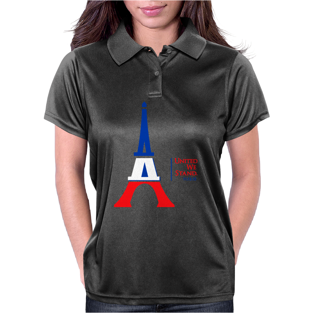 United We Stand - Paris (For light colored backgrounds) Womens Polo