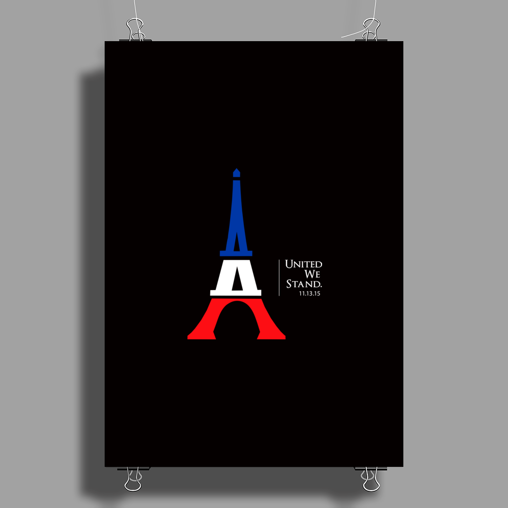 United We Stand - Paris Poster Print (Portrait)