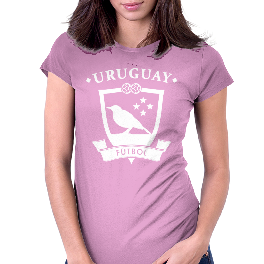Uruguay World Football Womens Fitted T-Shirt