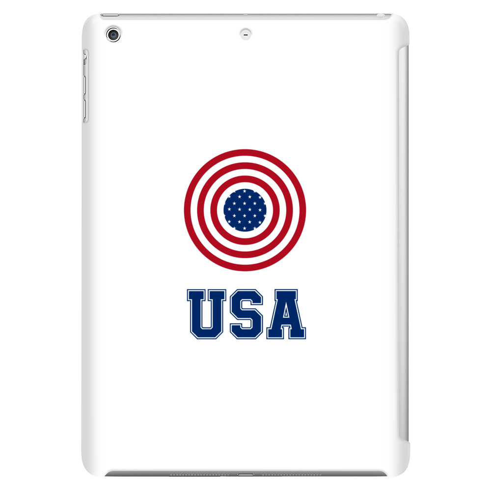 USA 4th July American Flag Circle Tablet