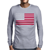 Usa Flag Navy American Mens Long Sleeve T-Shirt