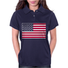 Usa Flag Navy American Womens Polo