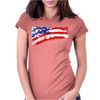 Usa Flag Pride American Womens Fitted T-Shirt