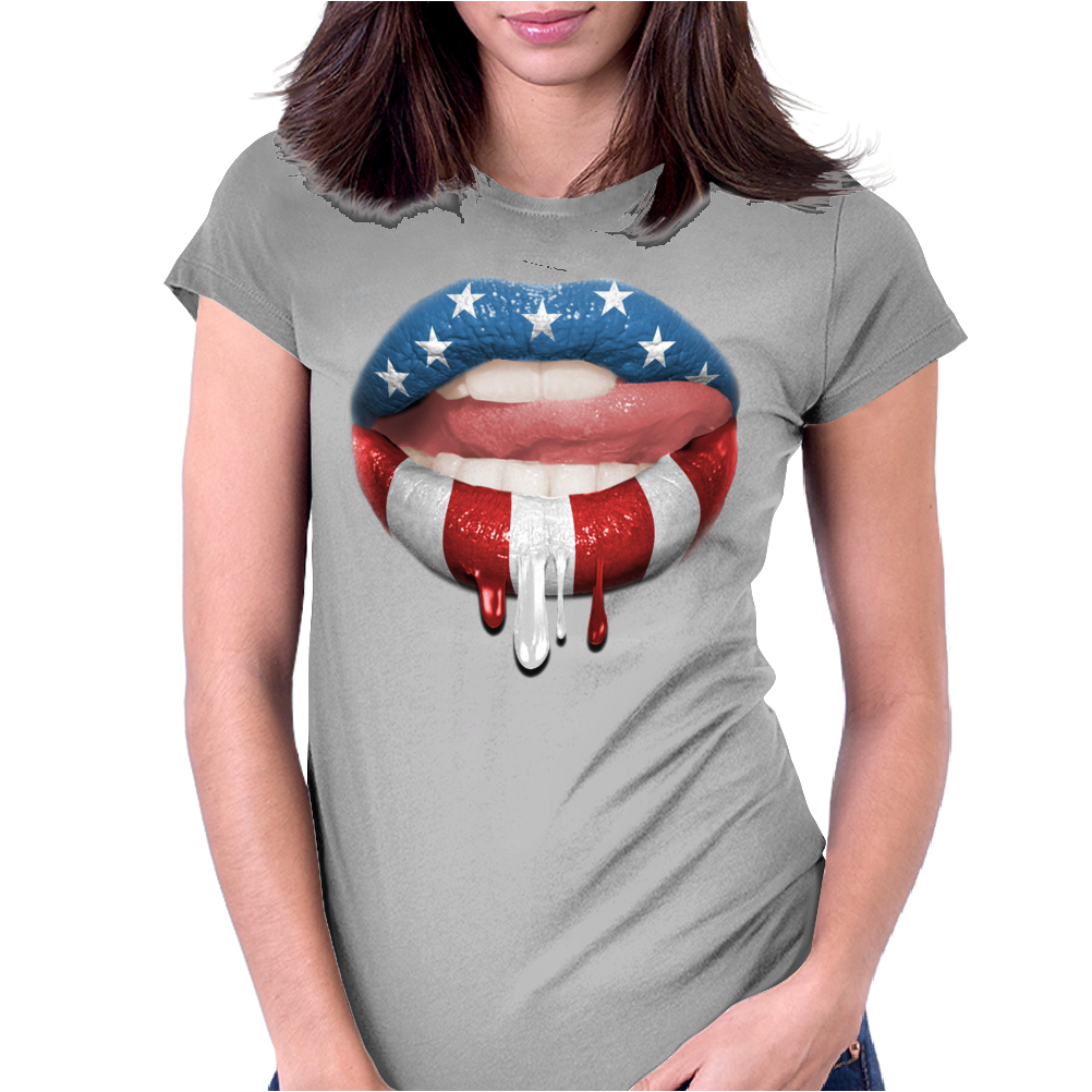 USA SEXY Womens Fitted T-Shirt