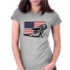 USA Speedway Racing Womens Fitted T-Shirt