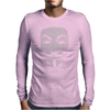 V FOR VENDETTA MASK GUY FAWKES COOL GIRLS WOMENS COTTON T-SHIRT DW01 Mens Long Sleeve T-Shirt