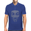 V FOR VENDETTA MASK GUY FAWKES COOL GIRLS WOMENS COTTON T-SHIRT DW01 Mens Polo