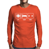 V1 Eat Sleep Code Mens Long Sleeve T-Shirt