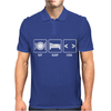 V1 Eat Sleep Code Mens Polo