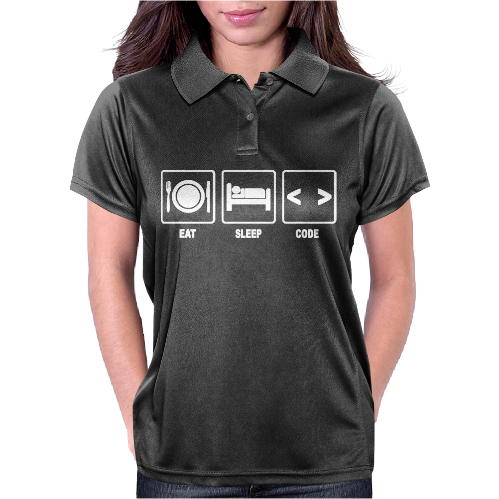 V1 Eat Sleep Code Womens Polo
