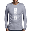 V2 Eat Sleep Computer Mouse Mens Long Sleeve T-Shirt