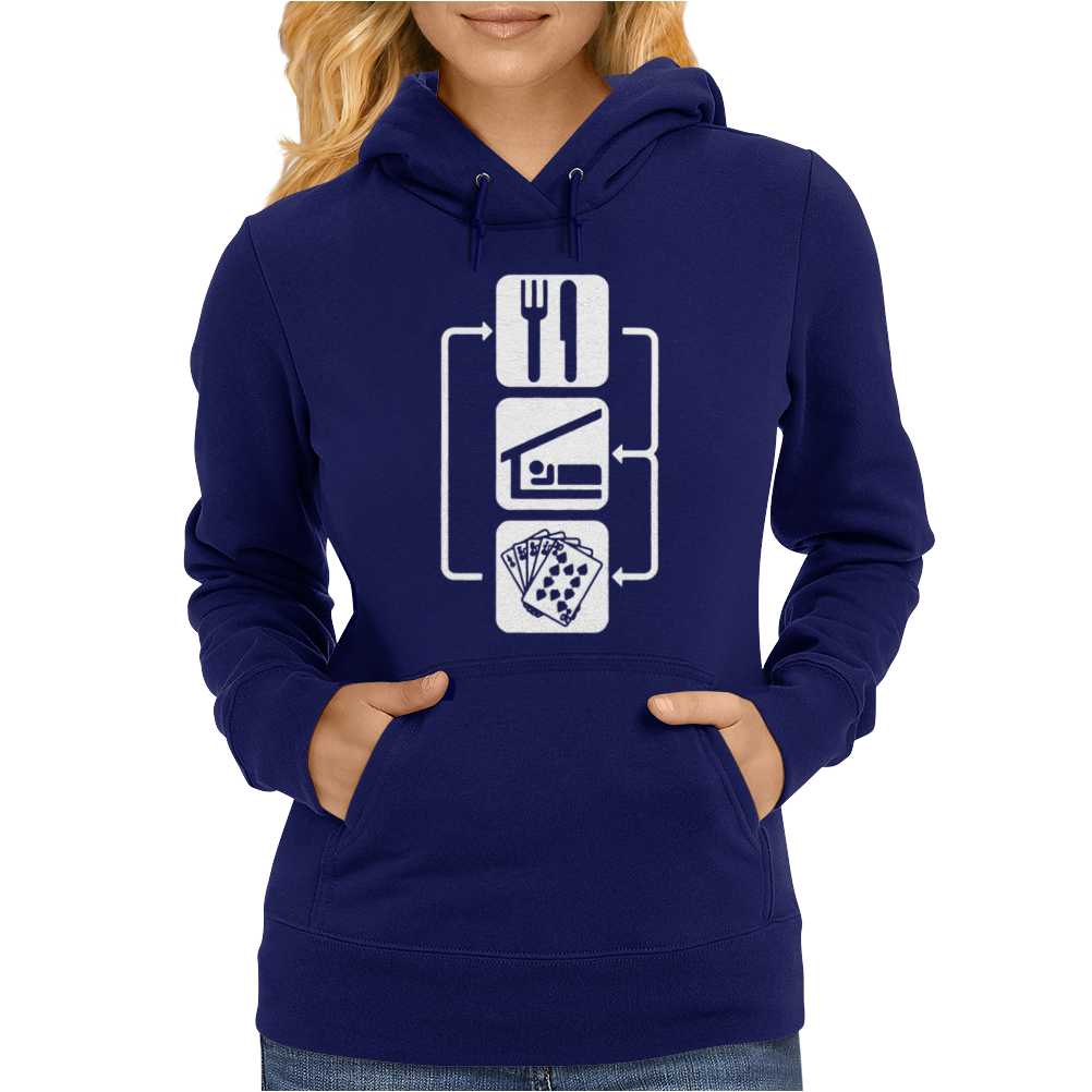 V2 Eat Sleep Poker Womens Hoodie