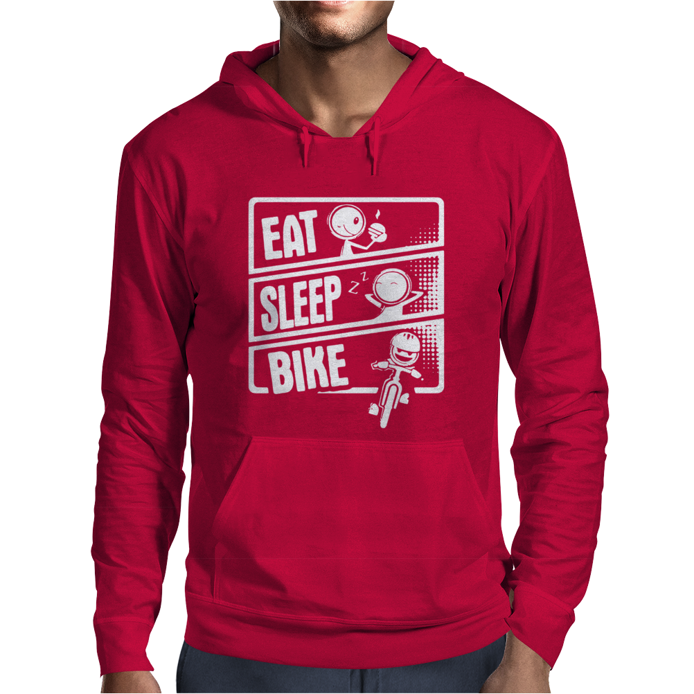 V3 Eat Sleep Bike Mens Hoodie