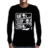 V3 Eat Sleep Fish Mens Long Sleeve T-Shirt