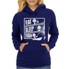 V3 Eat Sleep Fish Womens Hoodie