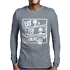 V3 Eat Sleep Mens Long Sleeve T-Shirt
