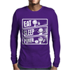 V3 Eat Sleep Poker Mens Long Sleeve T-Shirt