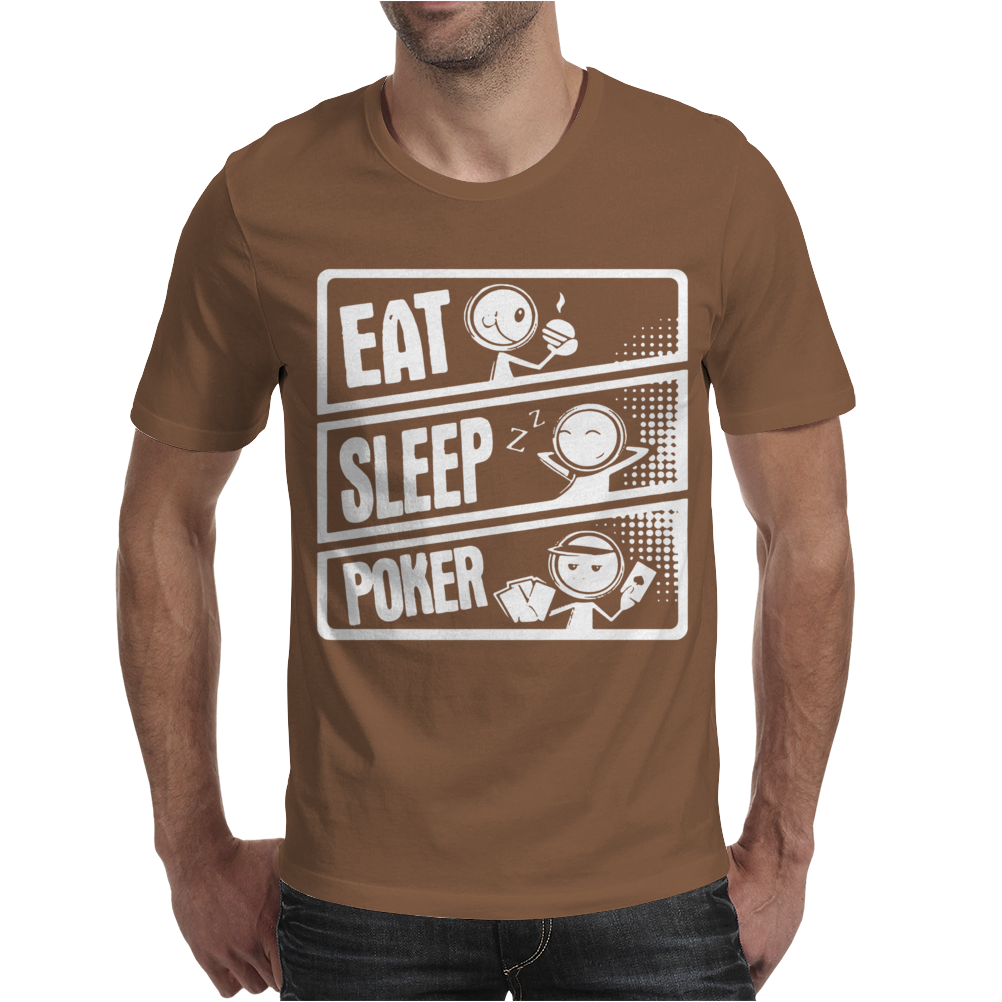 V3 Eat Sleep Poker Mens T-Shirt