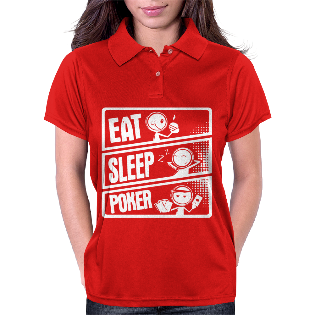 V3 Eat Sleep Poker Womens Polo