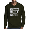 V6 Swim Bike Run Mens Hoodie