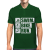 V6 Swim Bike Run Mens Polo