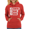 V6 Swim Bike Run Womens Hoodie