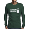 Vacation Alpaca Bag Animal Humor Funny Mens Long Sleeve T-Shirt