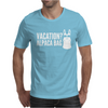 Vacation Alpaca Bag Animal Humor Funny Mens T-Shirt