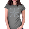 Valentine Snowflake Womens Fitted T-Shirt