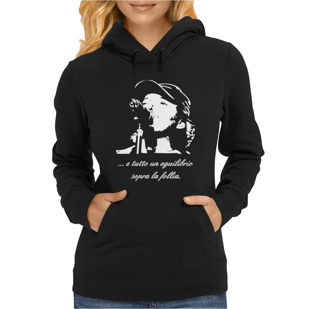 Vasco Rossi Follia Musica Blasco Womens Hoodie