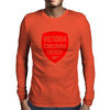 VCC Red Mens Long Sleeve T-Shirt