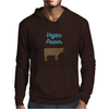 Vegan cow powerful, go veg, go animals Mens Hoodie
