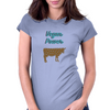 Vegan cow powerful, go veg, go animals Womens Fitted T-Shirt