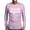Vegans Rule Mens Long Sleeve T-Shirt