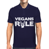 Vegans Rule Mens Polo