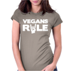 Vegans Rule Womens Fitted T-Shirt