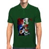 Velocitee Evil Clown Mens Polo