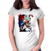 Velocitee Evil Clown Womens Fitted T-Shirt