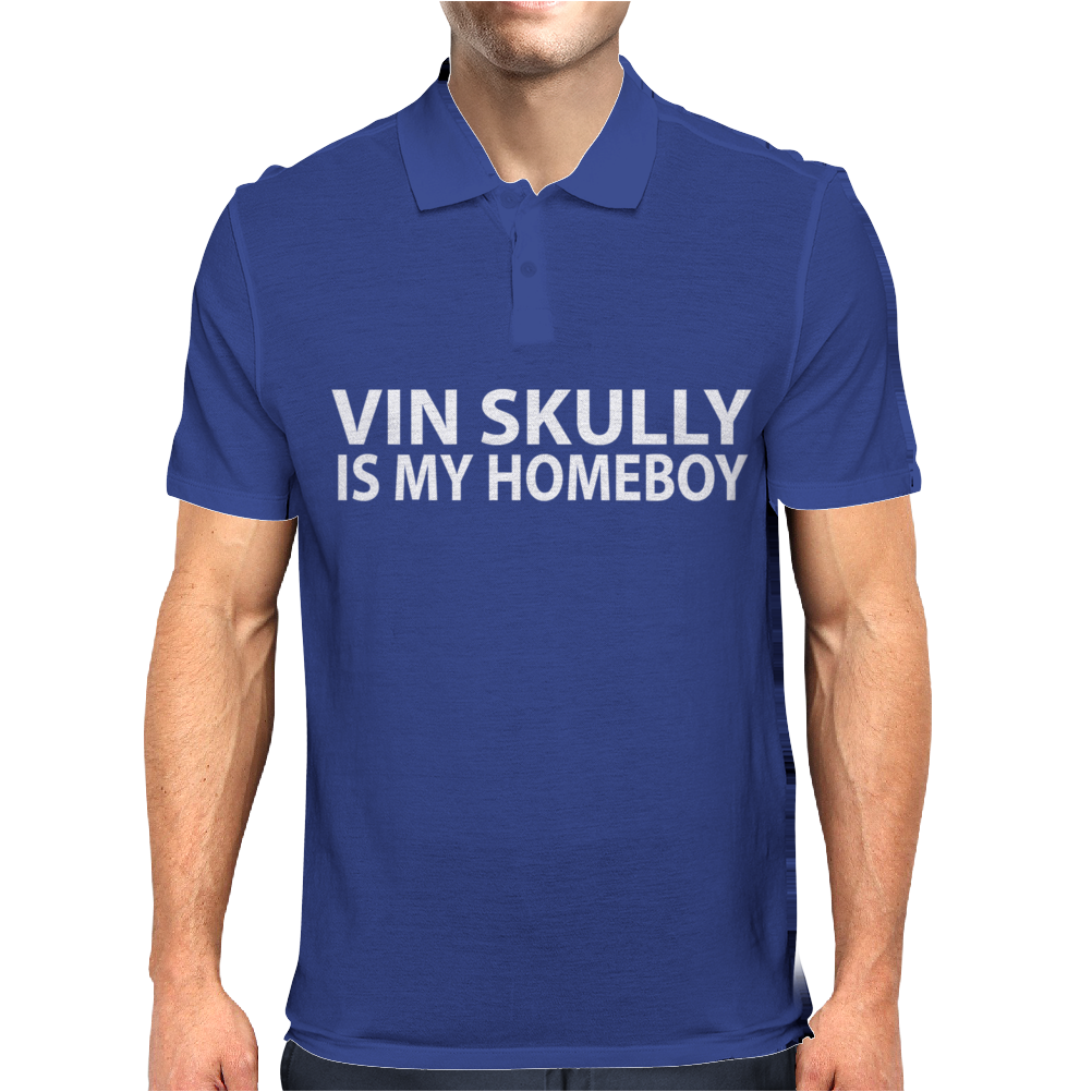 Vin Scully is My Homeboy Mens Polo