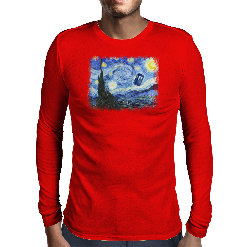 Vincent and The Doctor Mens Long Sleeve T-Shirt