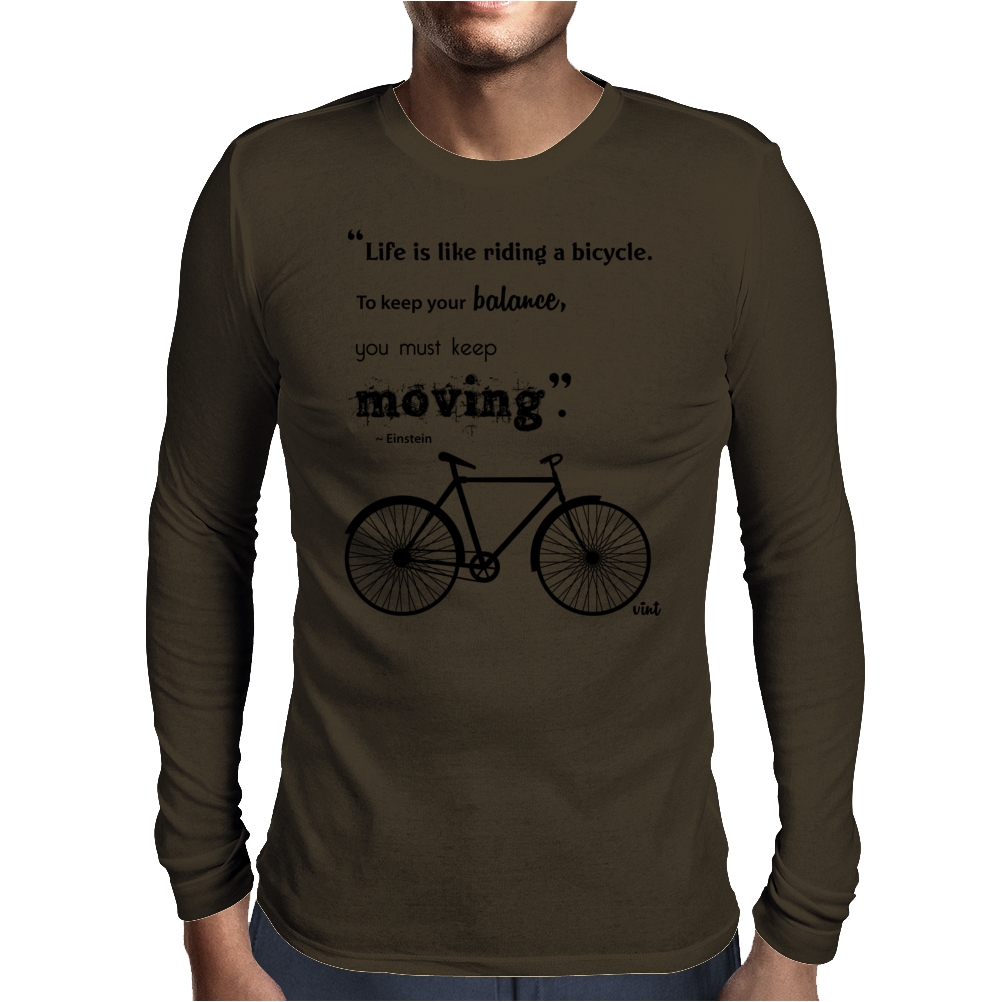 Vint Bicycle Mens Long Sleeve T-Shirt