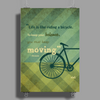 Vint Bicycle Poster Print (Portrait)