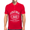 Vintage, Aged to Perfection Mens Polo
