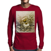 Vintage, butterfly with flowers  Mens Long Sleeve T-Shirt