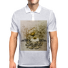 Vintage, butterfly with flowers  Mens Polo