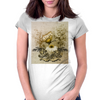 Vintage, butterfly with flowers  Womens Fitted T-Shirt