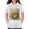 Vintage, butterfly with flowers  Womens Polo