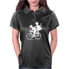 Vintage Graphic Children Biking Funny Humor Geek Womens Polo