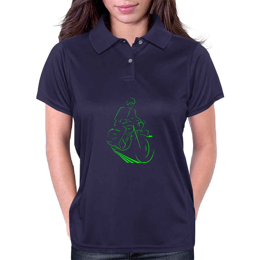 Vintage Motorcycle 48B Womens Polo