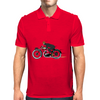 Vintage motorcycle racer Mens Polo